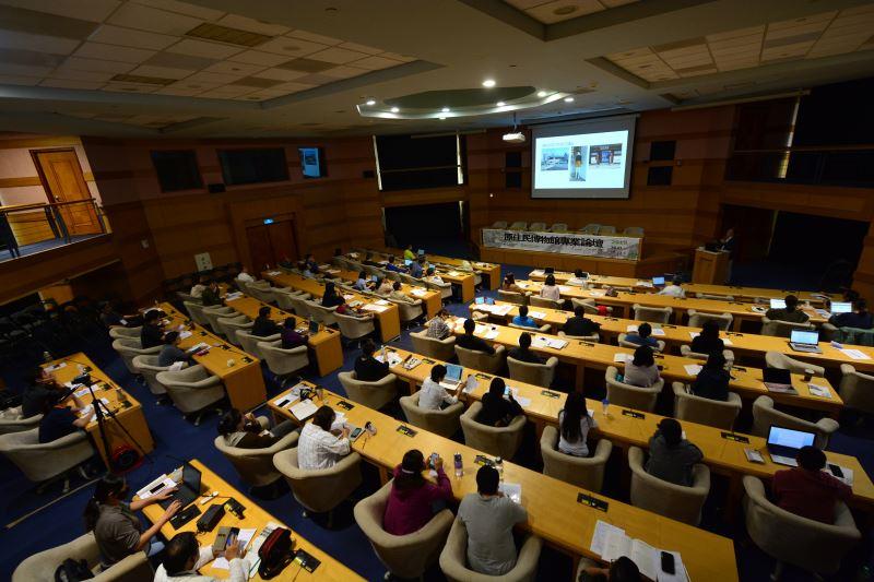 文化部博物館政策小組召集人林崇熙館長於「文化/生物多樣性與永續發展、公眾參與及當代視野」場次發表「當代視野的博物館」專題演講