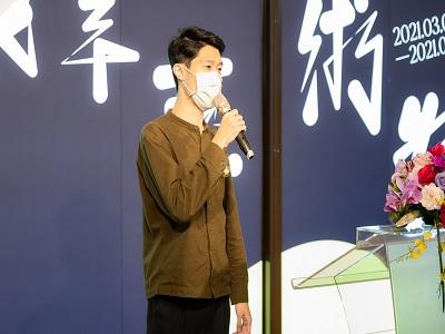 中山青年藝術獎得獎者代表─楊宥勝。