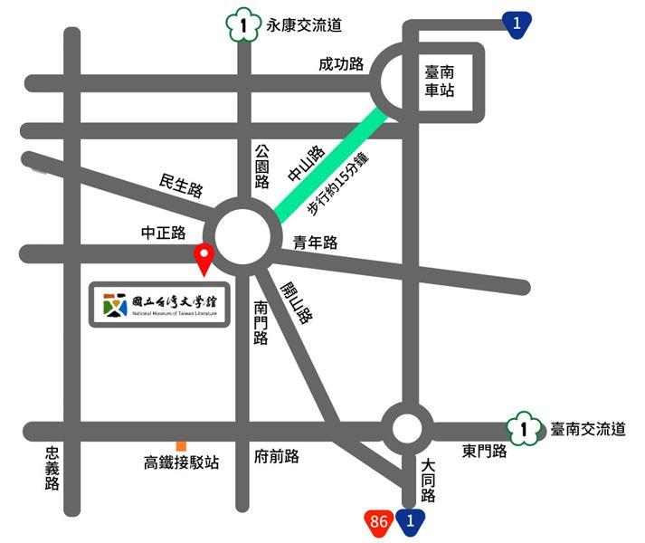 臺灣文學館地圖