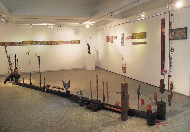 李俊陽〈《仙仙仙,福浪共開花》系列〉2005-2011 綜合媒材 尺寸依展出場地調整