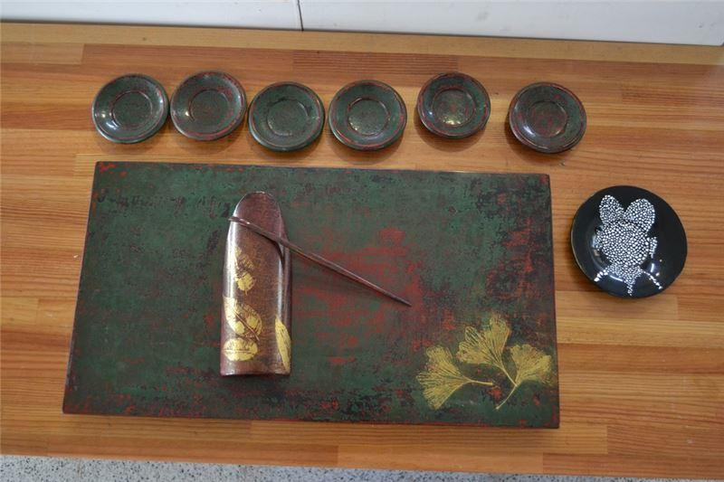 漆藝工藝基礎班-學員漆藝茶道具組成品