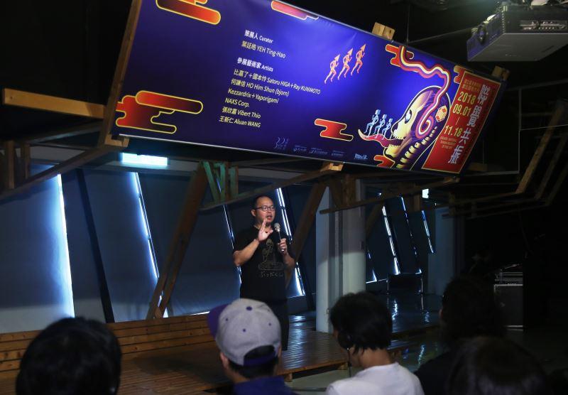 國內藝術家代表王新仁致詞