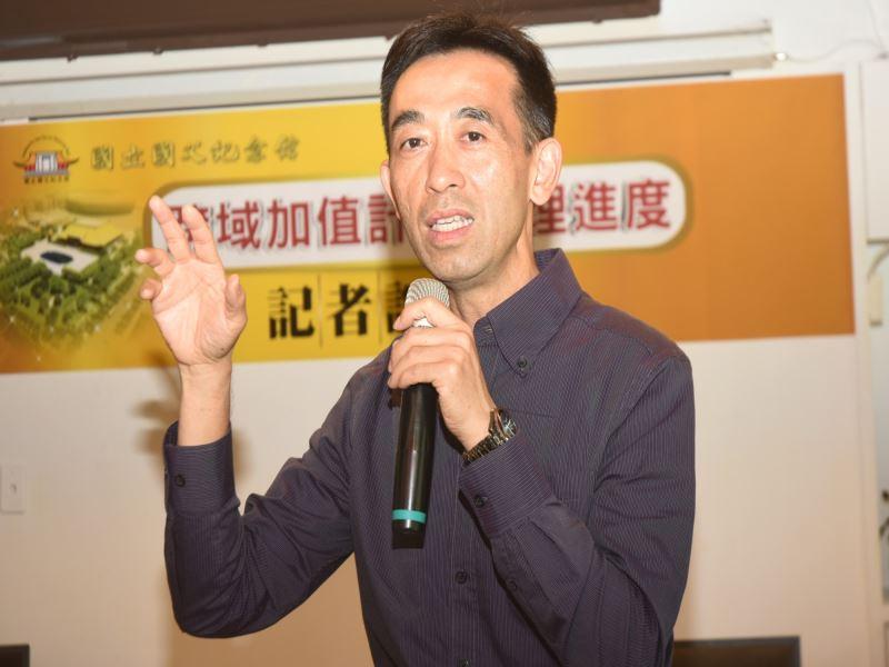 國立國父紀念館王蘭生館長召開「跨域加值計畫辦理進度」記者說明會