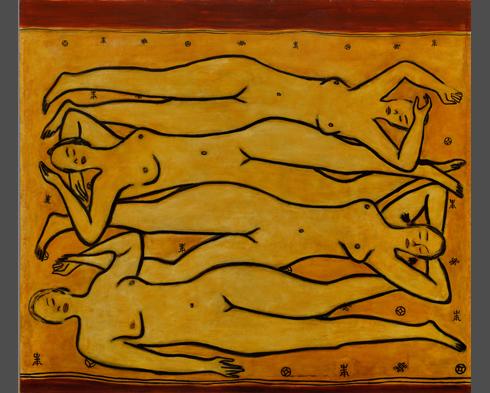 常玉 四女裸像