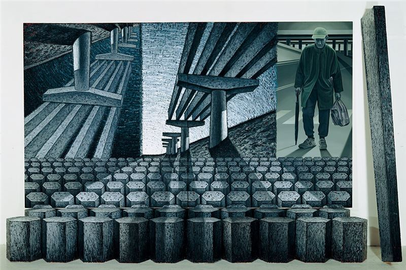 LU Hsien-ming〈Grandpa's Allegory〉1996  Mixed media  275×450×66 cm