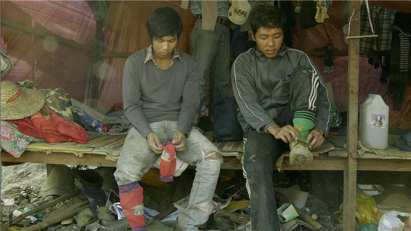 Unlike his guerrilla feature films, Jade Miners was shot over the course of 14 months,