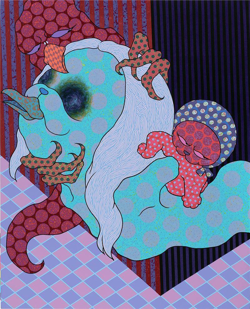 廖堉安〈惱人的虛情假愛 No.4〉2009 壓克力顏料、畫布 162×130 cm
