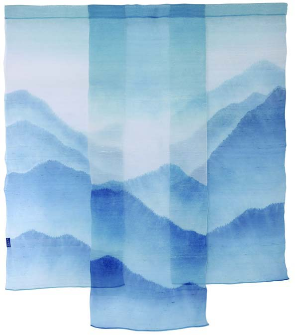 Landscape- Indigo Dyed Hanging Screen