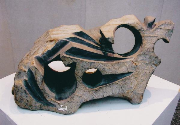「萬象系列」中的抽象石雕作品