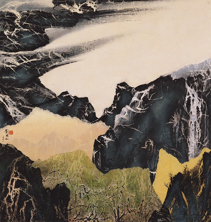 劉國松〈山外山〉1968 水墨、紙本 99.3×94.5 cm