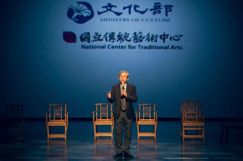「108年度開枝散葉&接班人計畫」階段成果記者會-國立傳統藝術中心陳濟民主任致歡迎詞。