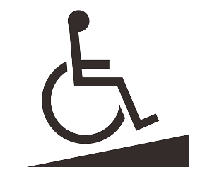 無障礙坡道的符號