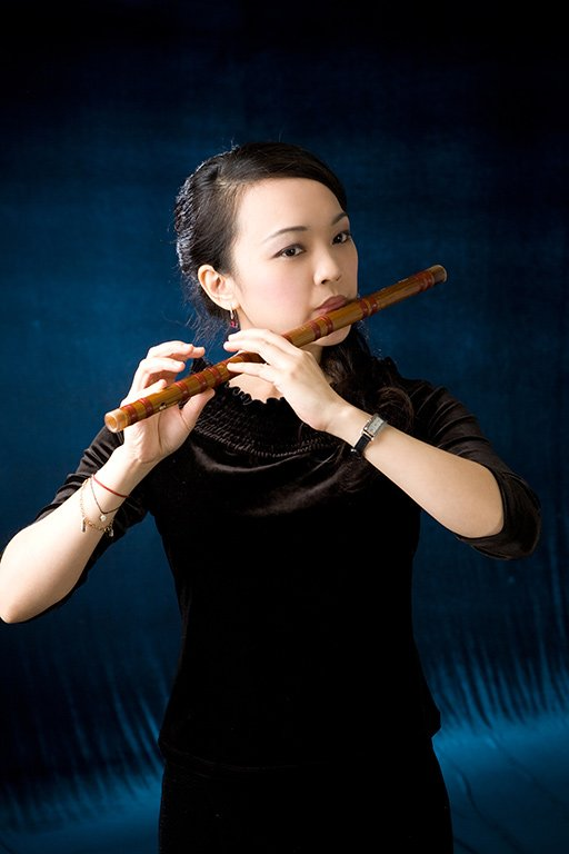 Liu Zhen-ling, flutist of Mountain Music Movement