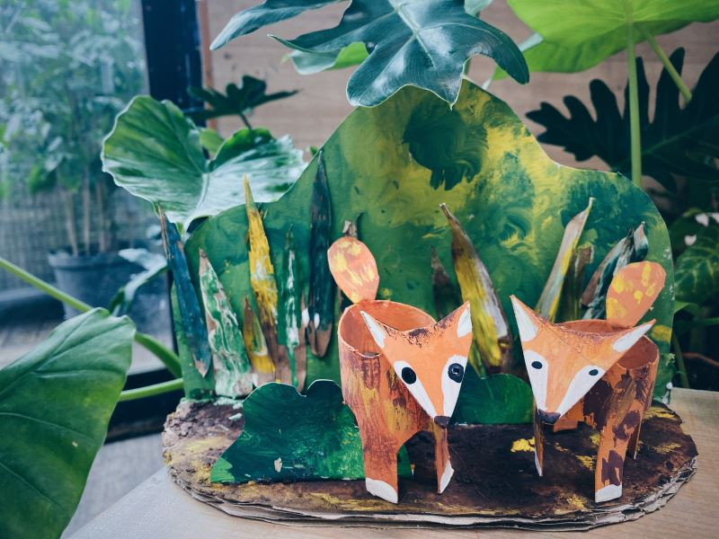 帶著太陽祝福的狐狸家族