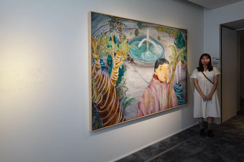 藝術家王冠蓁與作品〈無風的噴泉〉