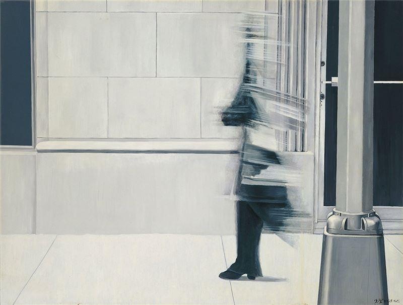 夏陽〈凱蒂〉1972 油彩、畫布 182.5×241.5 cm