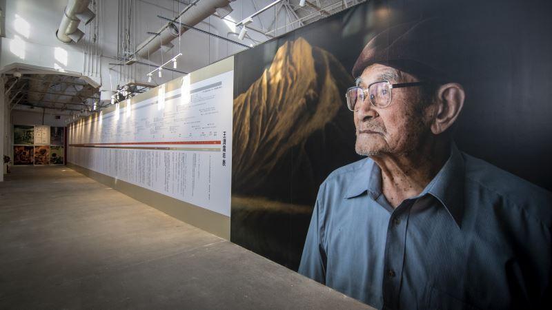 「王清霜100+ 漆藝巨擘百歲特展」一景:王清霜藝師時代長廊
