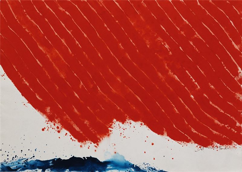 蕭勤〈度大限-147〉1992 油彩、畫布 53×76 cm