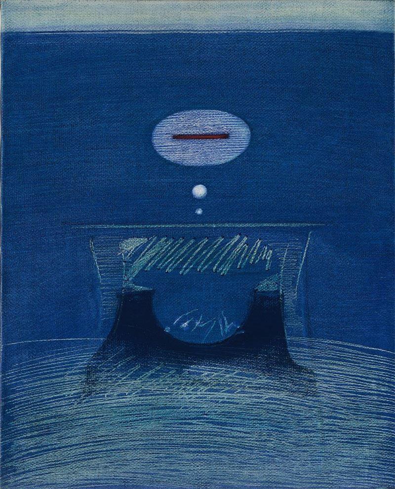 霍剛〈90-4〉1990 油彩、畫布 54×50 cm