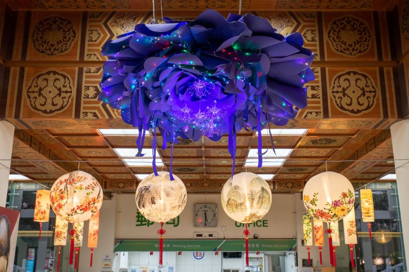 「聽見花開的聲音-新春藝術燈籠展」大型藝術裝置