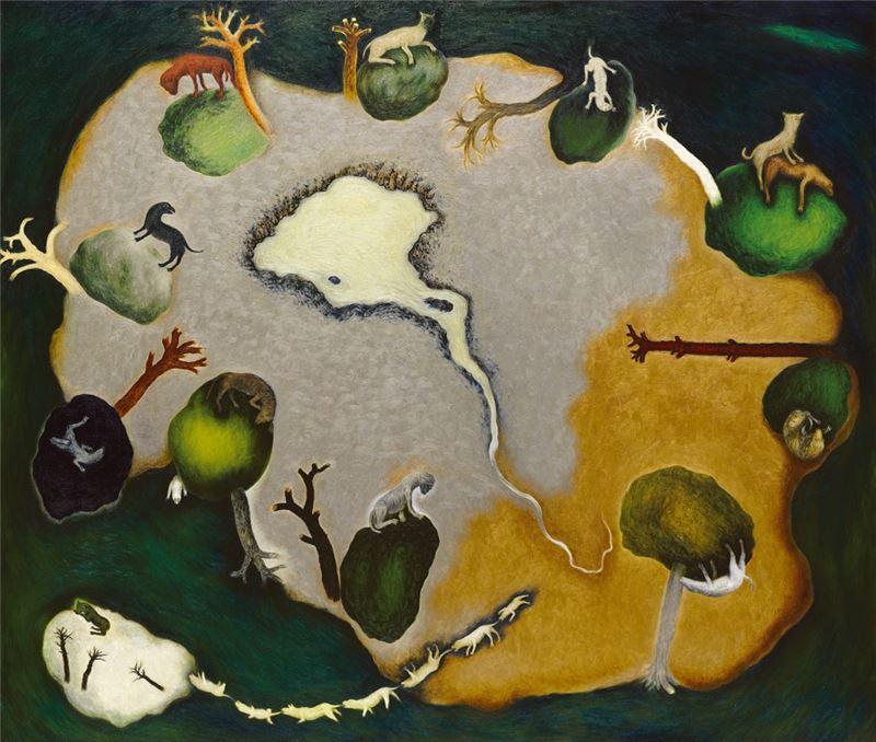 蘇旺伸〈金銀島〉2003 油彩、畫布 170×200 cm