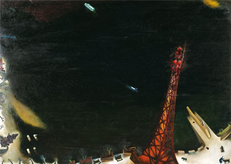 蘇旺伸〈河邊-渡船頭〉1996 油彩、畫布 170×240 cm
