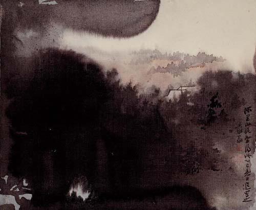 阿里山曉雲 縱37.5公分  橫45公分