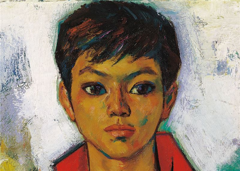 Shiy De-jinn〈Boy in Red〉Detail