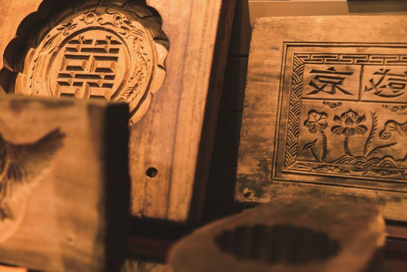 具有數十載歷史的木製餅模。