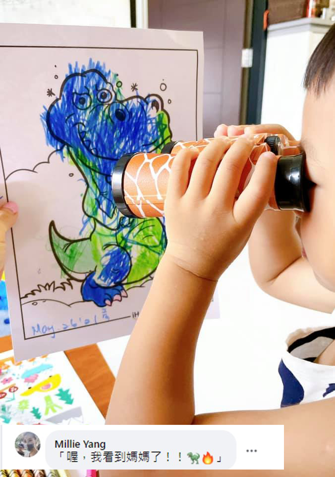 圖2恐龍製造者活動照-看到媽媽
