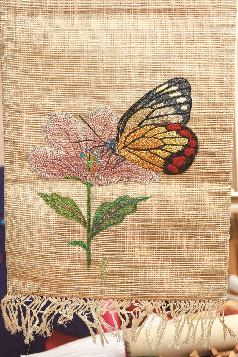 蝴蝶繡圖。