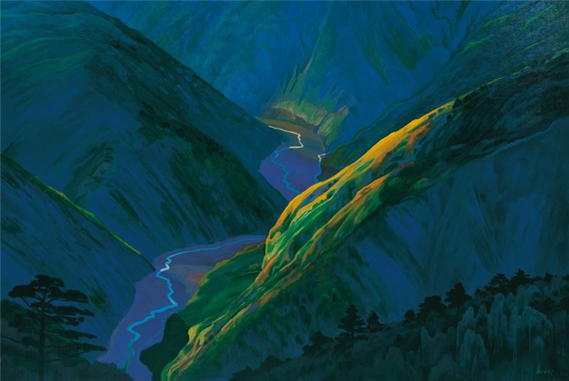 Lin Hsin-yueh〈Valley〉1991 Oil on canvas  129.5×193.5 cm