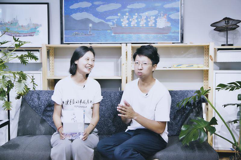 星濱山共創工作室主持人林書豪(右)