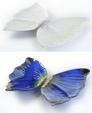 張正成、陳雅芳作品「蝴蝶水果盤(一組4件)」圖