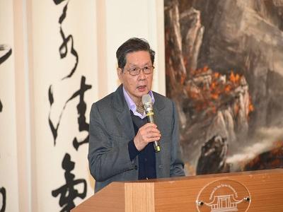 Former President Wang Ming-xian of NTUA gave a speech.