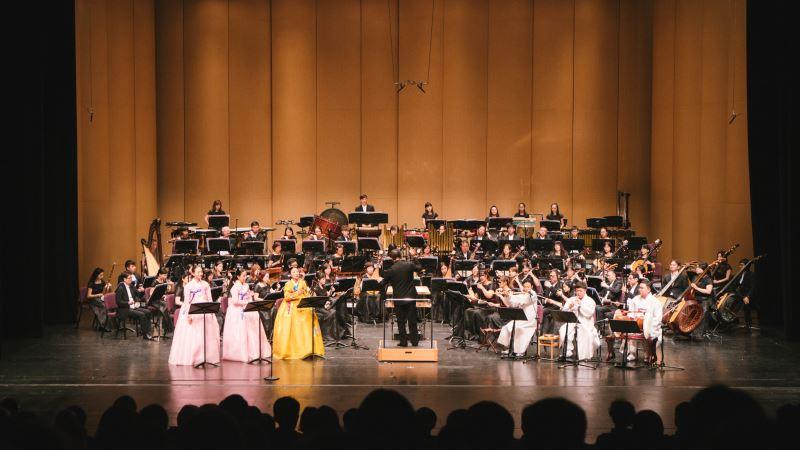 圖3:2018年11月雙方首次合作,《晨曦燦爛~韓國的音樂風情》音樂會在臺灣戲曲中心大表演廳演出,為臺灣觀眾留下了深刻的印象。
