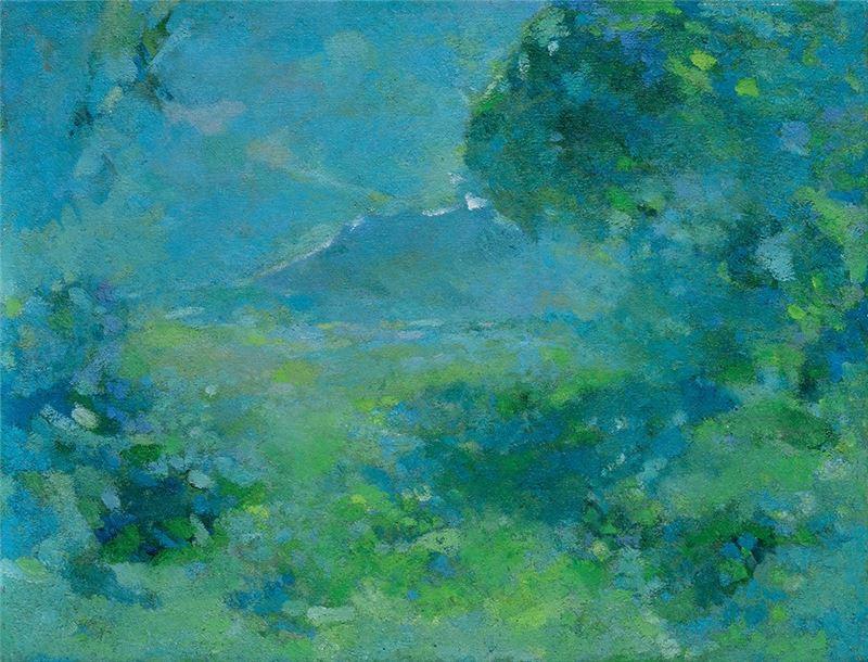 陳德旺〈觀音山遠眺〉1982  油彩、畫布  40.7×52.8 cm