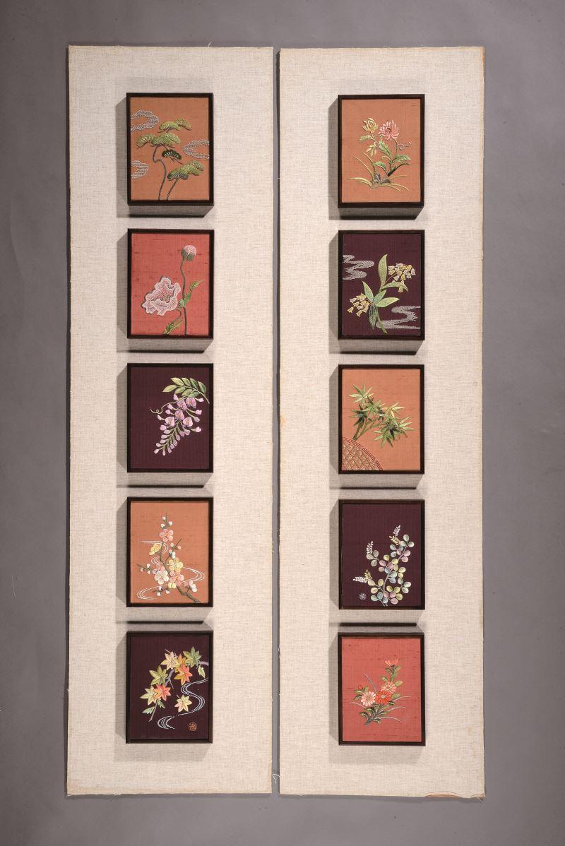 國立傳統藝術中心典藏作品〈花絮饗宴〉。