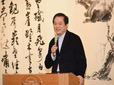 President Chen Chih-cheng of NTUA gave a speech.