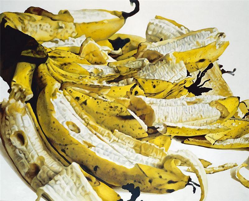 卓有瑞〈香蕉系列之七〉1975  油彩、麻布  181.5×224.5 cm