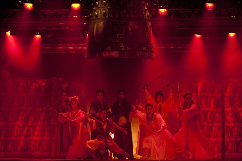 "A scene from "" The Burning of Red Lotus Temple"" (2011) performed for the 100 anniversary of the founding of the country. (Taken by Chen Yiu-wei)"