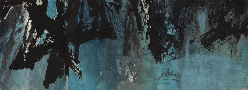 馮鍾睿〈74-59〉1974 水墨、紙本 43×117 cm