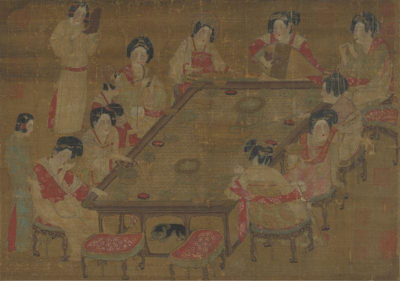 南管從唐朝開始就開始流行,也常見於繪畫中。(此圖為唐宮樂圖)