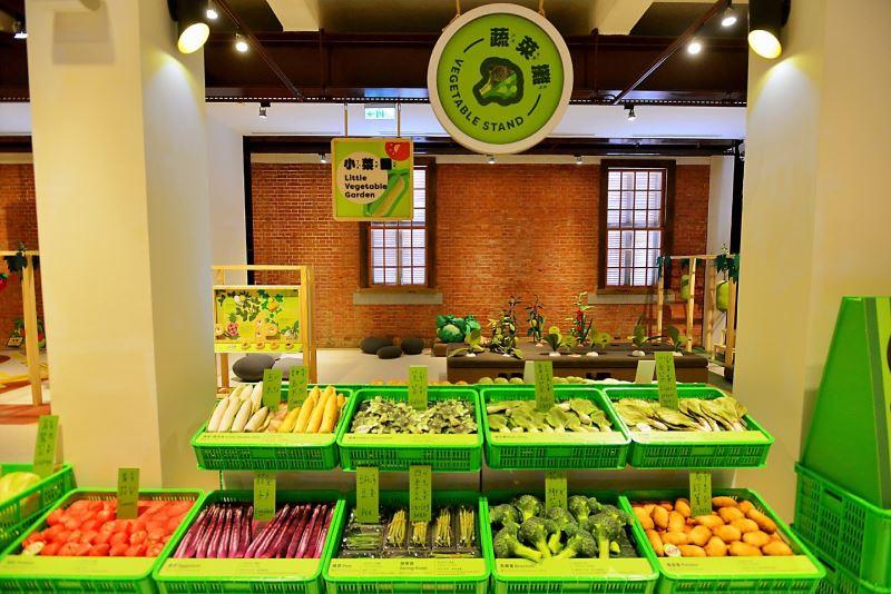 臺博館來SAY菜市場特展蔬菜攤