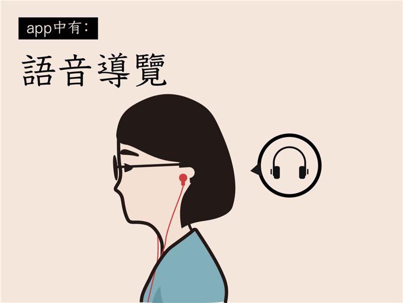 國美館藝術漫步App提供語音導覽服務