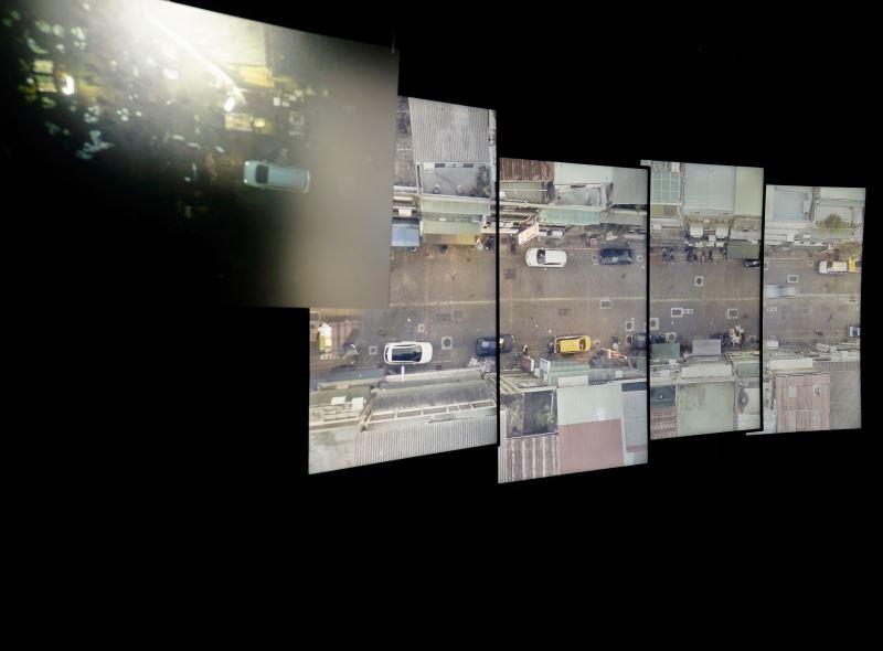 洪譽豪,〈巡者〉,2018,多頻道錄像裝置,尺寸依展出場地調整_107年全國美展新媒體藝術金牌獎