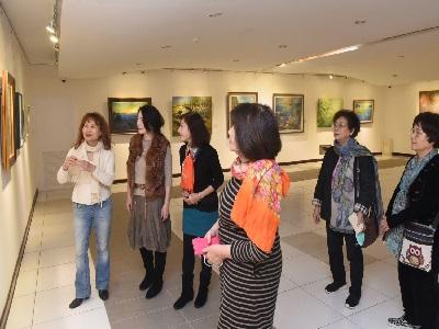 03台北市西畫女畫家畫會會員現場導覽