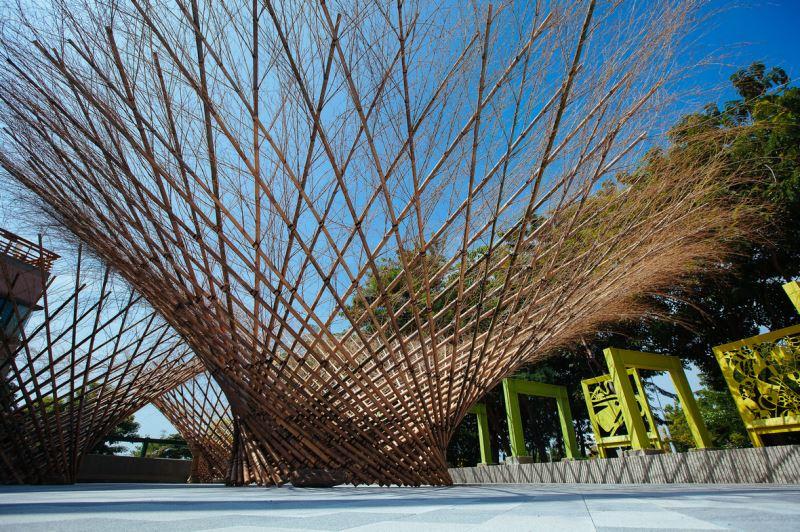 竹裝置藝術-三叢竹
