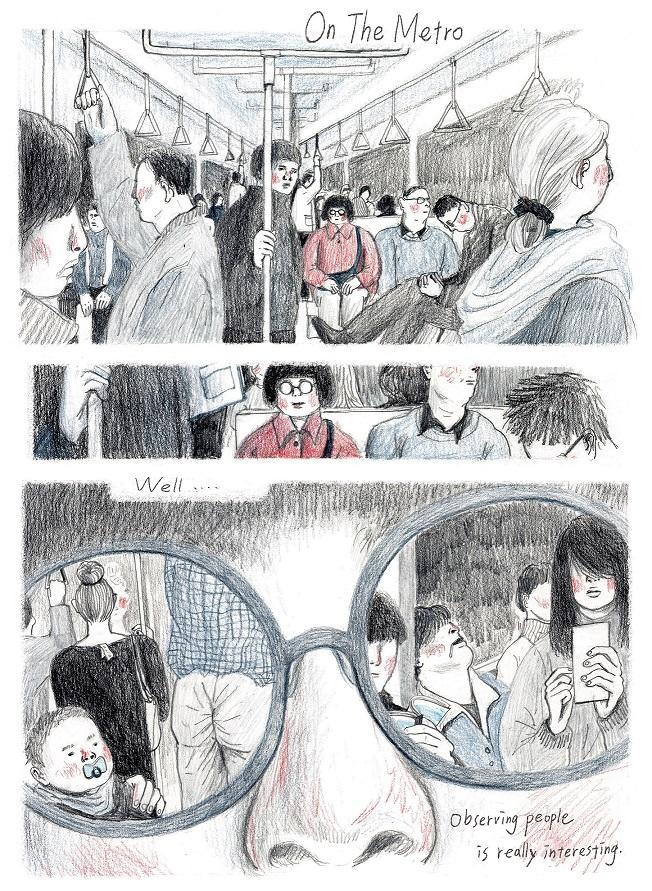 陳沛珛作品-On The Metro