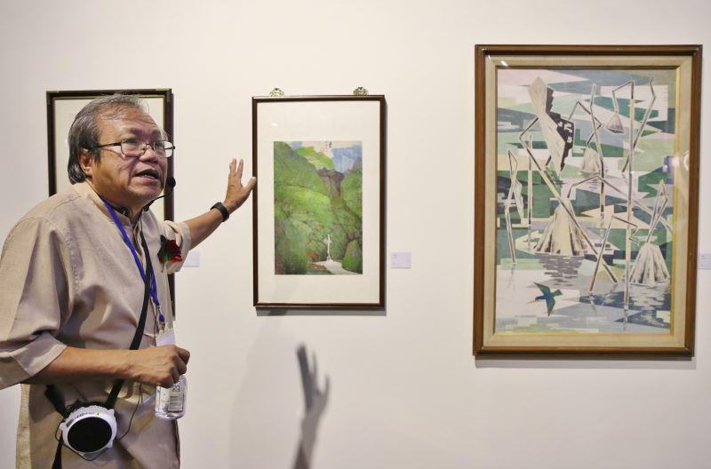 臺灣美術史學家蕭瓊瑞教授導覽記者會開箱及展示作品